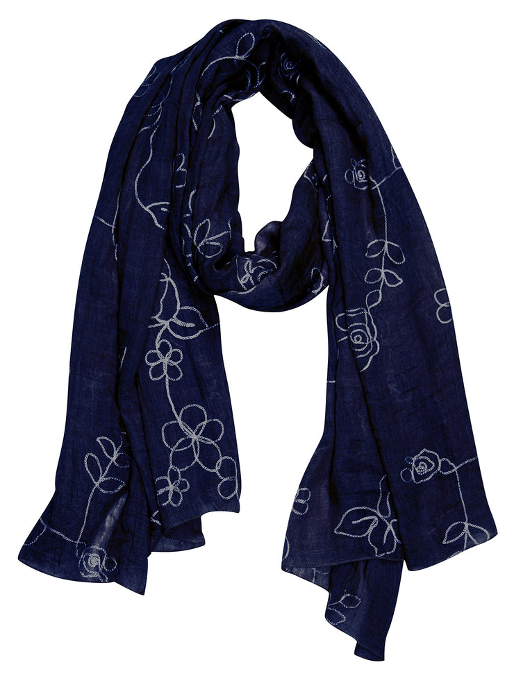 A6574-Floral-Embroidered-Rose-Navy-KL