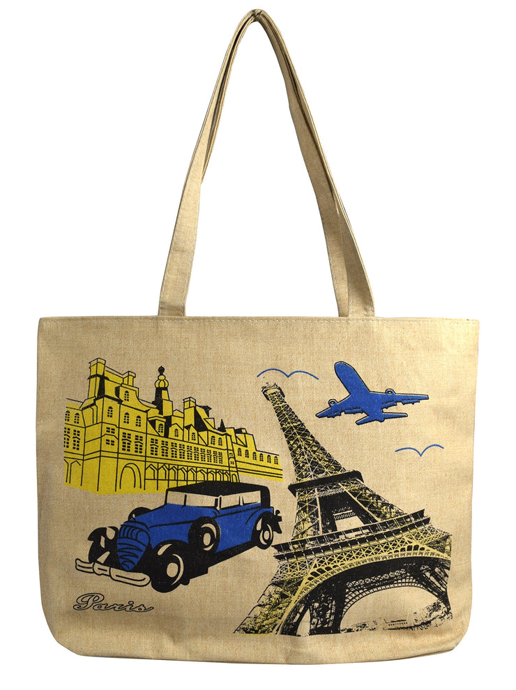 B6966-Paris-Tourist-Bag-Beige-OS
