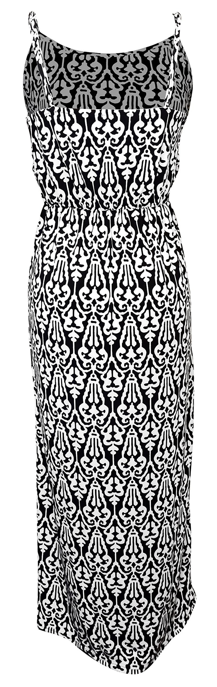 Damask Sleeveless Blouson Maxi