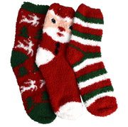 Classic Fuzzy Socks Christmas Holiday Packs of 3