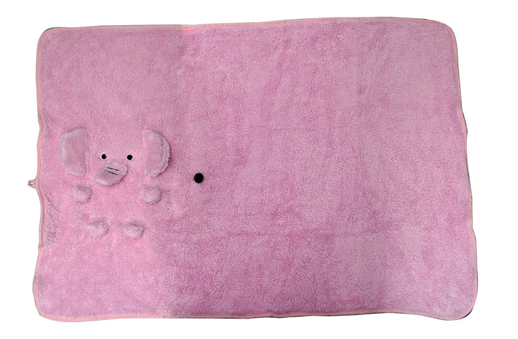 Soft and Plush Snuggle Elephant Baby Blanket in Two Colors