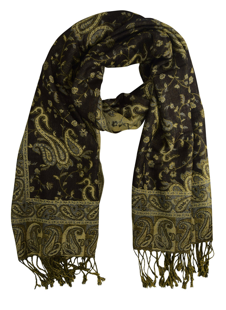 Elegant Reversible Paisley Pashmina Shawl Wrap Multi-Packs