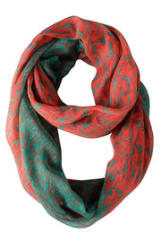 A3302-Bird-Print-Loop-Green-Coral-JG