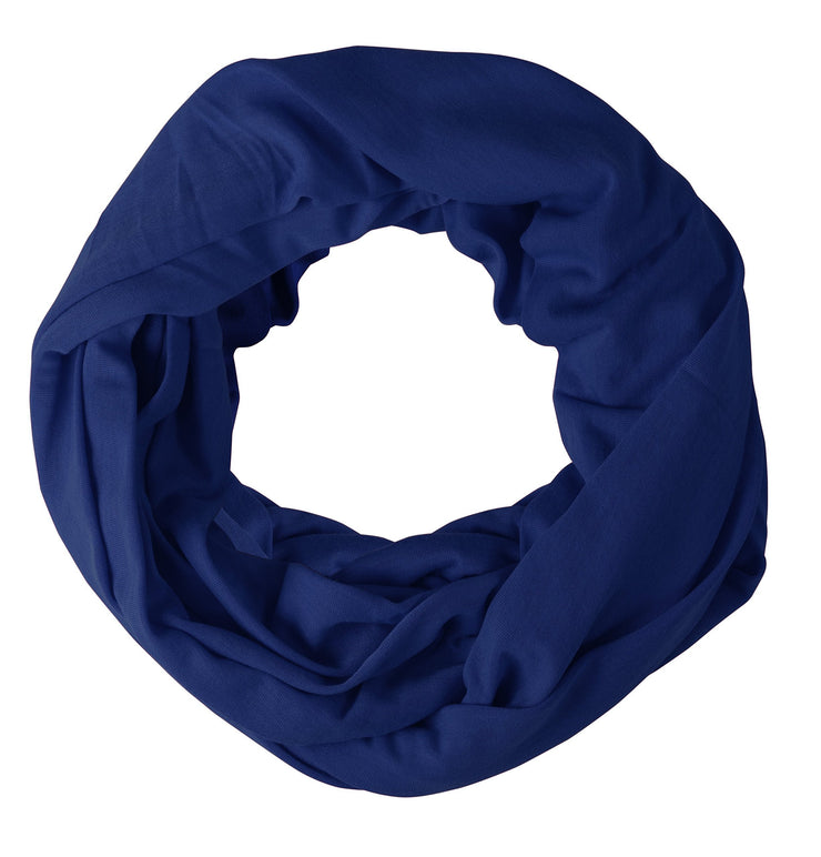 Royal Blue Peach Couture Cotton Soft Touch Vivid Colors Lightweight Jersey Knit Infinity Loop Scarf