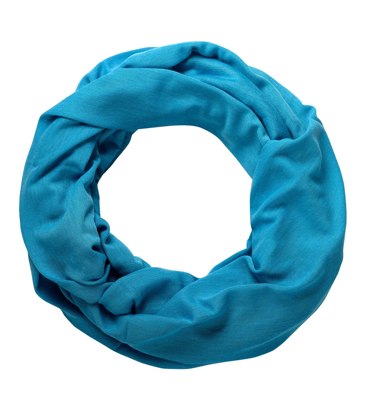 Turquoise Peach Couture Cotton Soft Touch Vivid Colors Lightweight Jersey Knit Infinity Loop Scarf