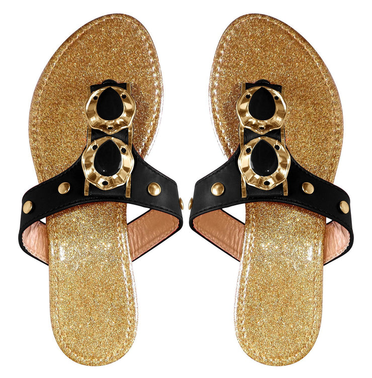 A9446-Sparkle-Sandals-Black-7-AJ