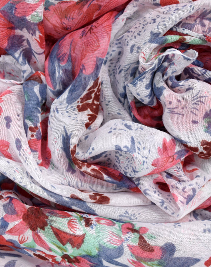 Womens Summer Fashion Hibiscus Floral Lightweight Scarf