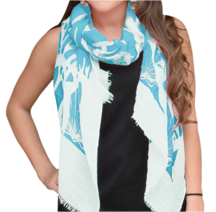 A5180-Nautical-Shell-Scarf-Aqua-KL
