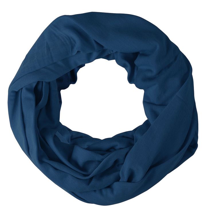 Navy Blue Peach Couture Cotton Soft Touch Vivid Colors Lightweight Jersey Knit Infinity Loop Scarf