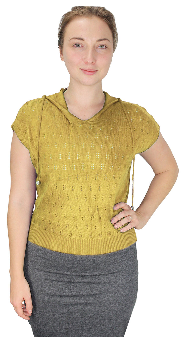 A313-Knit-Hooded-Shirt-Yellow-