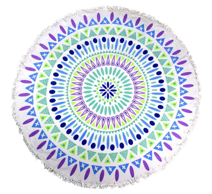 Beach Towel Thick Terry Round Yoga Mat Mandala Super Water Absorbent Tapestry Towels