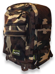 Green Camouflage Back to School Outdoors Hiking Smart Backpack