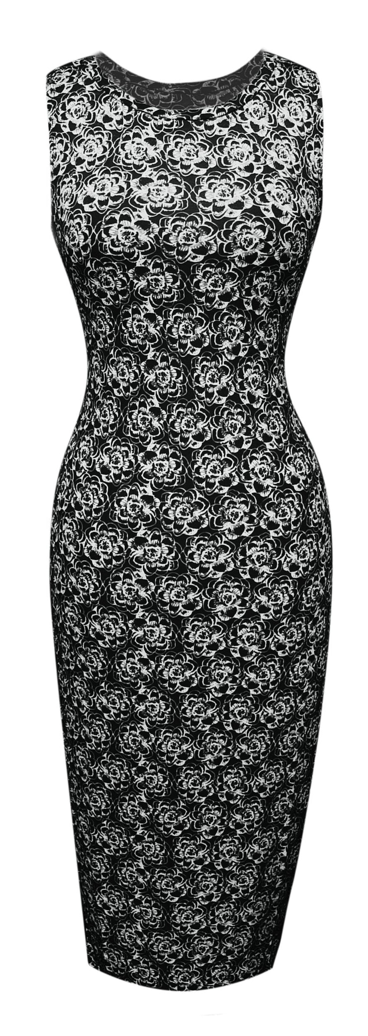 A1588-Floral-BodyconDress-Black-Sm-JG
