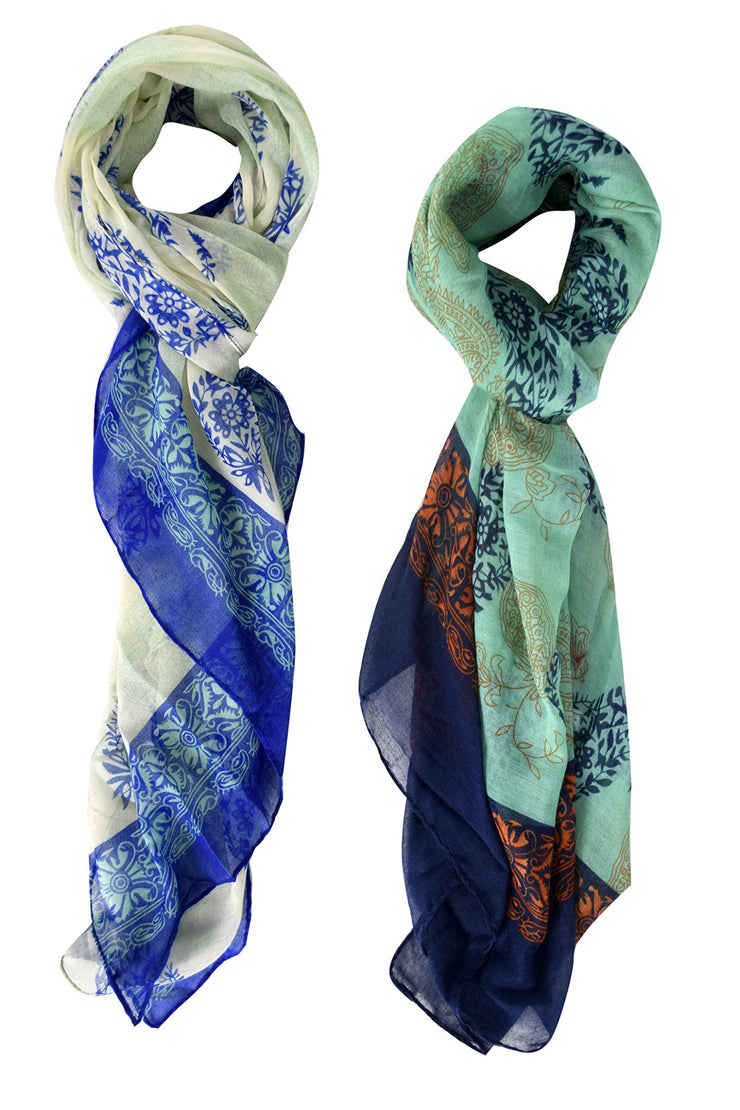 Paisley Flower Graphic Design Lightweight All Season Scarf