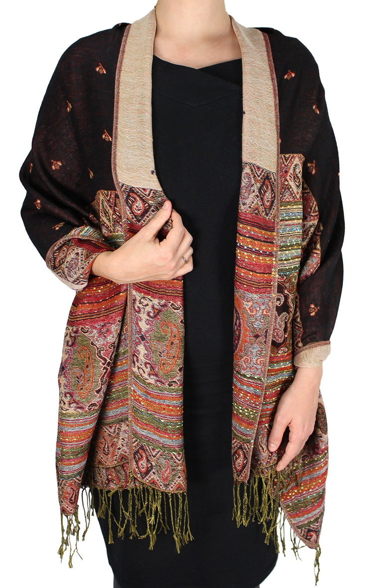 A7406-Tribal-Border-Pashmina-Black-RK