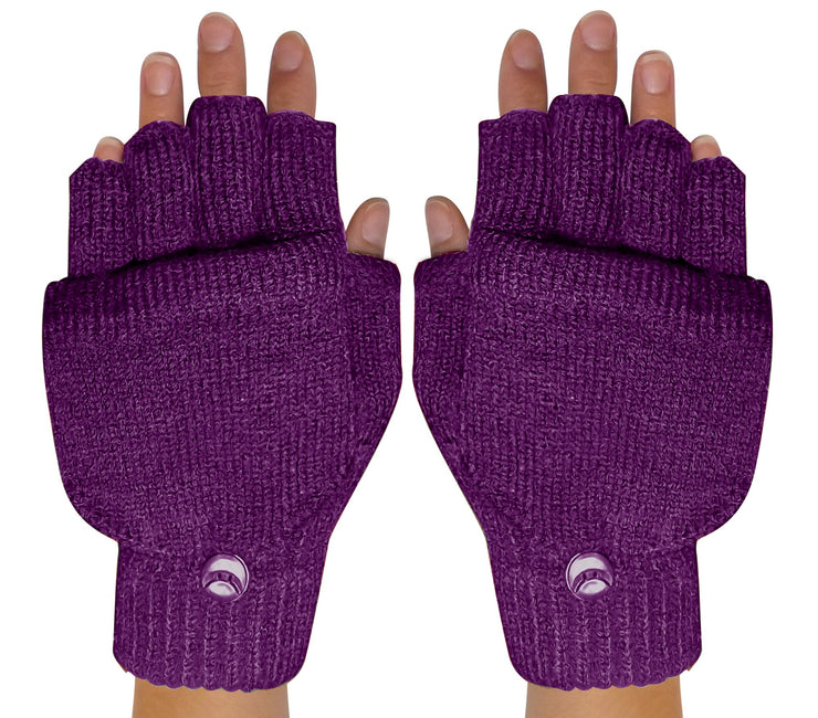 Fingerless-Flap-GL033-Purple-FBA-EHC
