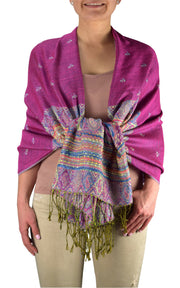 A7415-Tribal-Border-Pashmina-Magenta-RK