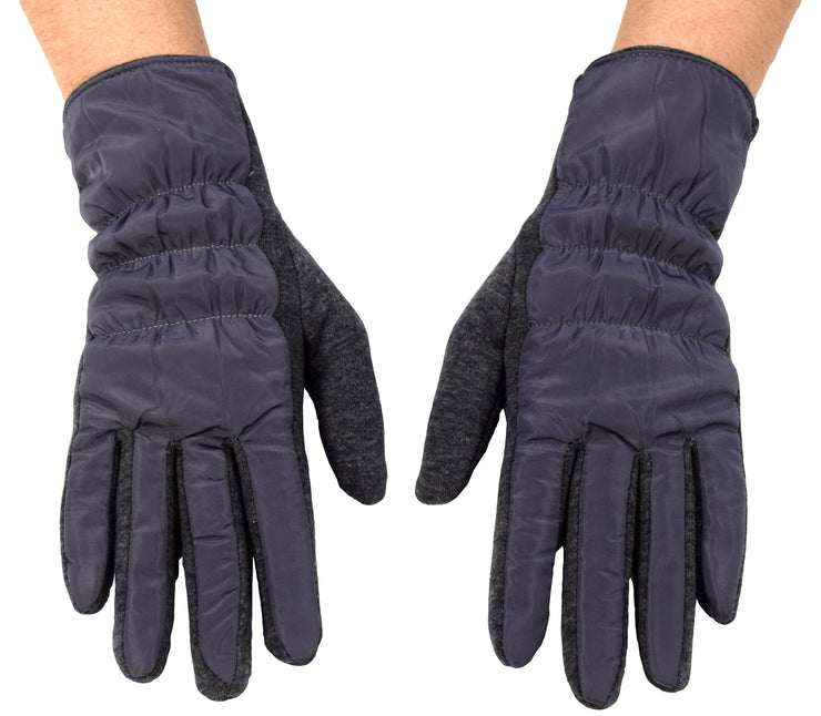 Womens Texting Touchscreen Fleece Lined Winter Driving Gloves ,Grey 66,One Size