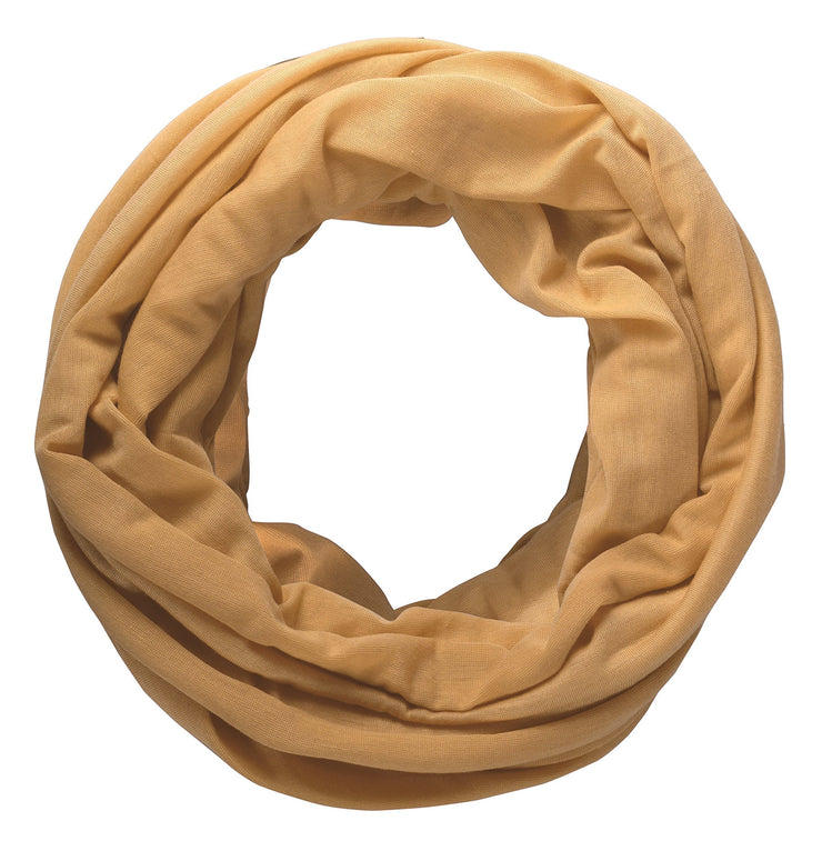 Tan Peach Couture Cotton Soft Touch Vivid Colors Lightweight Jersey Knit Infinity Loop Scarf