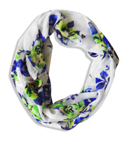 Womens Soft Vintage Floral Print Sheer Infinity Loop Circle Scarf