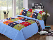 Home Collection Fun Print Kids Quilt Set