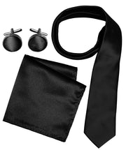 A6922-Necktie-Set-Solid-Black-