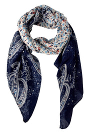 Lightweight Damask Paisley Scarves Summer Shawls Sheer Wraps