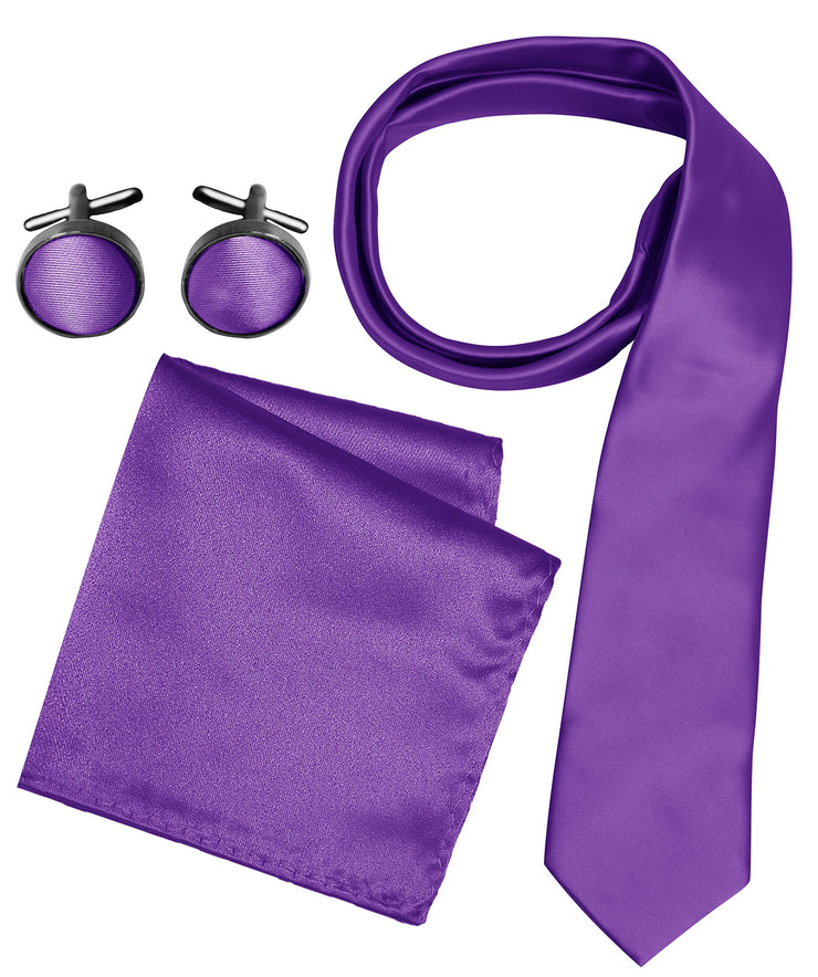 A6924-Necktie-Set-Solid-Purple-JG