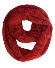 Womens Glamorous Chic Warm Knitted Winter Snood Infinity Loop Scarf