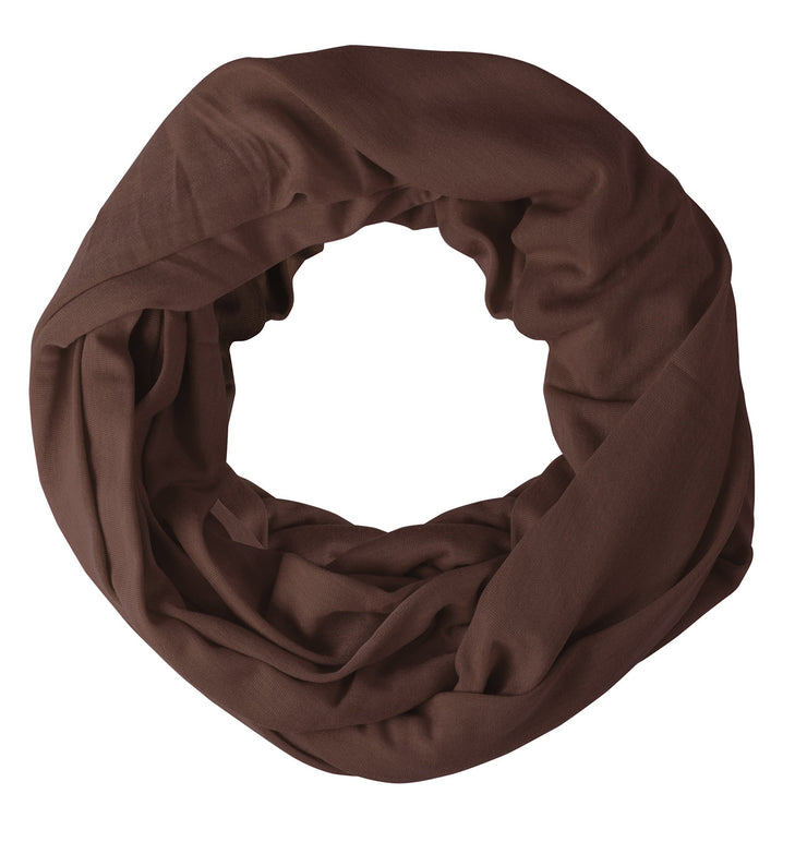 Brown Peach Couture Cotton Soft Touch Vivid Colors Lightweight Jersey Knit Infinity Loop Scarf
