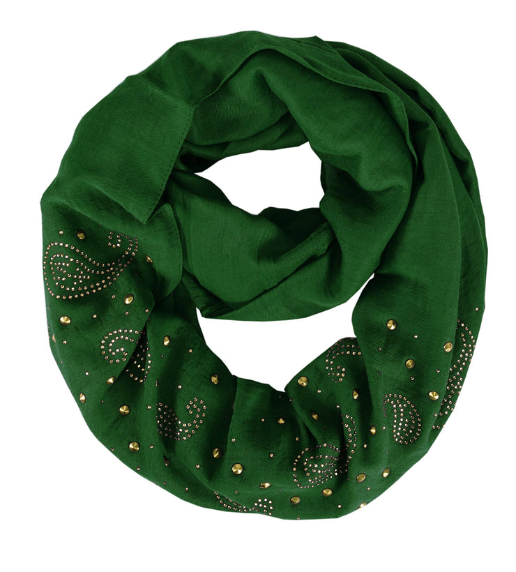 Paisley-Embellished-Loop-Green