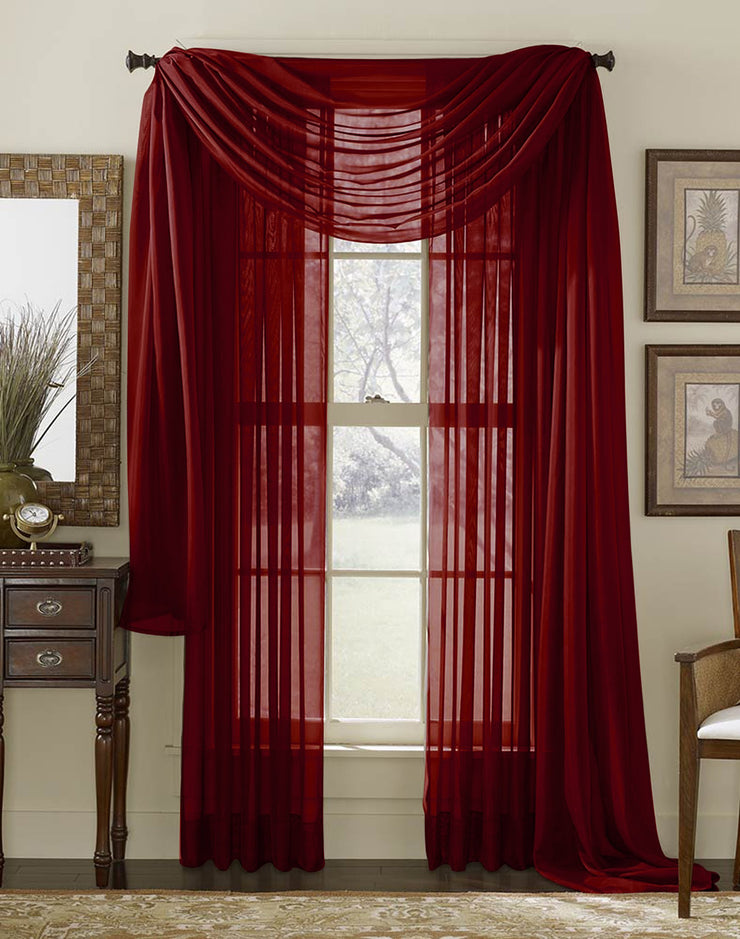 "Couture Home Collection 1 Piece Solid Sheer Window Treatment Curtain Rod Pocket 54"" X 84"""
