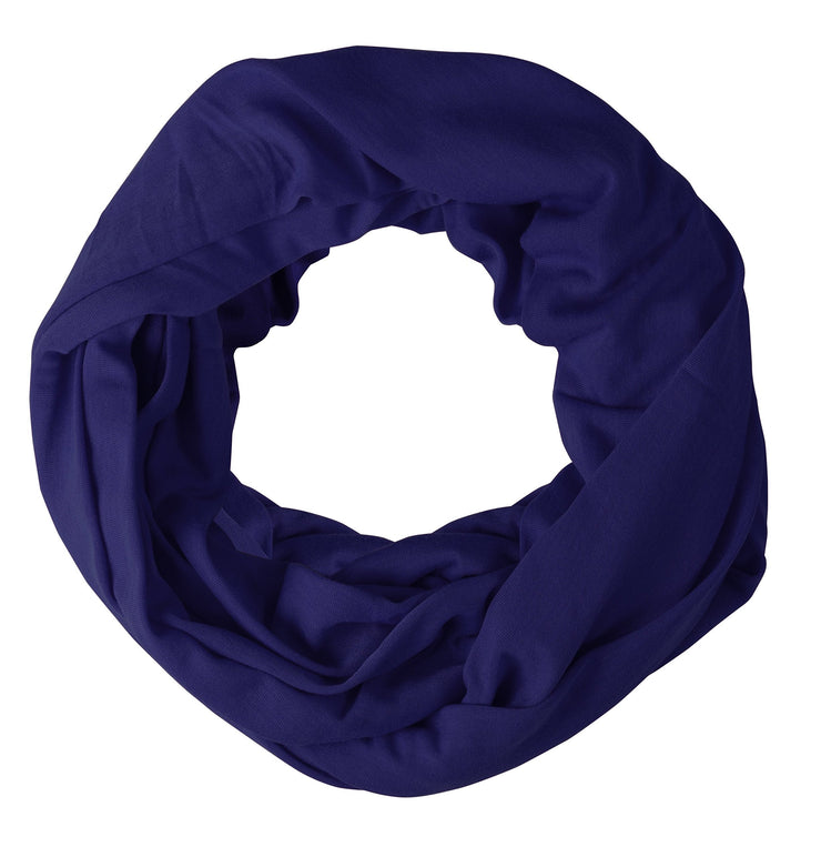 Purple Peach Couture Cotton Soft Touch Vivid Colors Lightweight Jersey Knit Infinity Loop Scarf