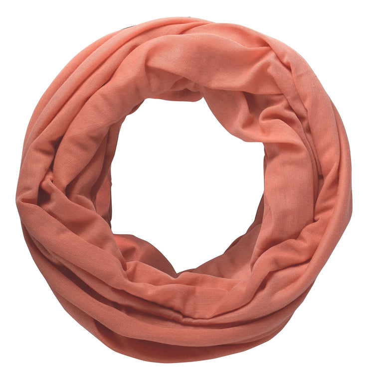 Peach Peach Couture Cotton Soft Touch Vivid Colors Lightweight Jersey Knit Infinity Loop Scarf