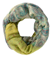 Damask Paisley Design Scarf and Infinity Scarf Summer Shawls Wraps