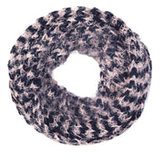 Two tone Thick Knit Soft Chunky Infinity Loop Scarves