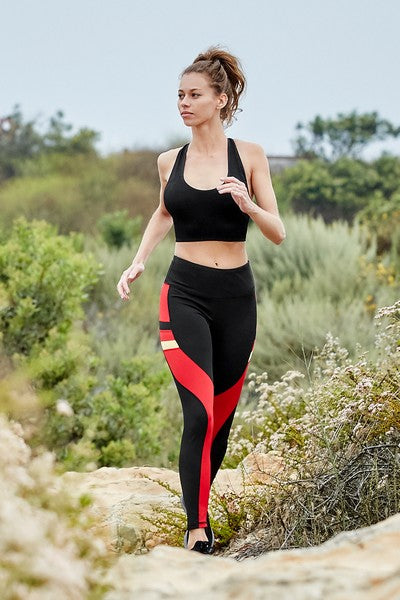 Moksha Active Adjacent Colorblock Workout Leggings