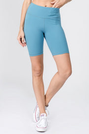 Dusk High Rise Matte Bike Shorts w/ Hidden Waistband Pocket