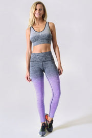 Ariele Active Gradient Ombre Print Compression Leggings