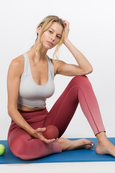 Cedar Dip Dye High Rise Active Wear Leggings