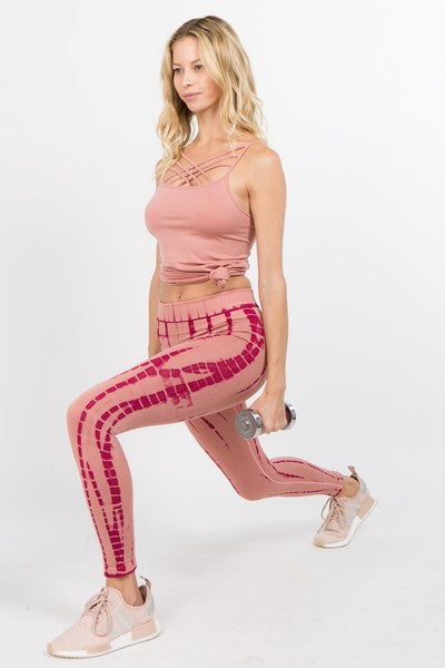 Damaris Tie-Dye Drip Seamless Leggings