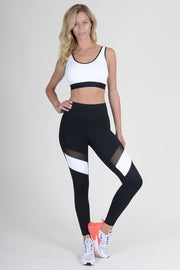 Lana Colorblock Mesh Performance Leggings