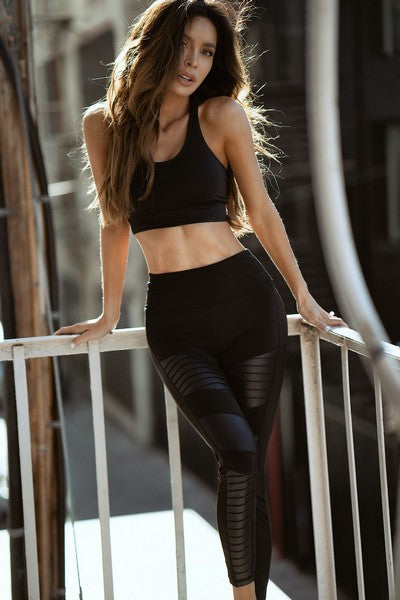 Willow Active Faux Leather Moto Workout Leggings