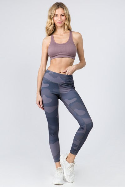 Dhyana Active Camo Print Leggings with Hidden Pocket
