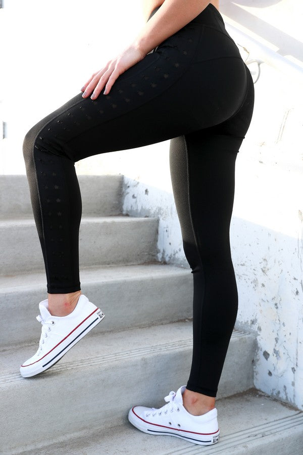 Samadhi Star Cut-Out Workout Leggings