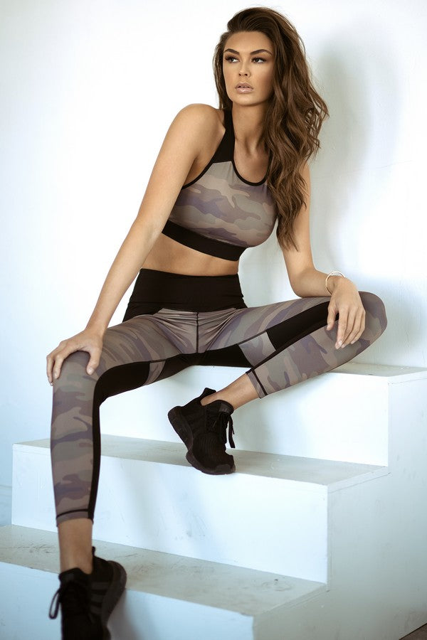 Cayenne Active Color Block Camouflage Leggings