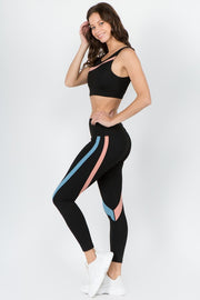 Meadow Curve Striped Workout Legging