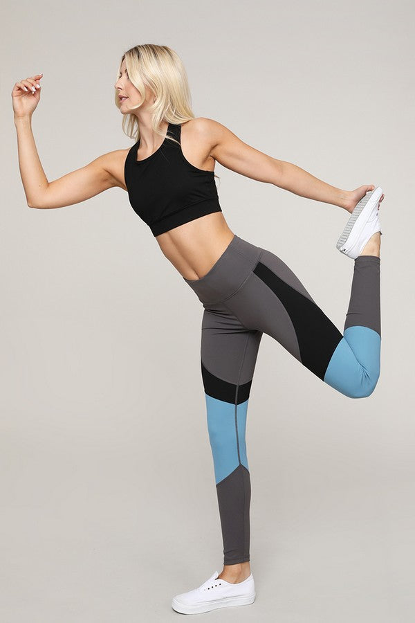 Surya Color Block Detail Workout Legging