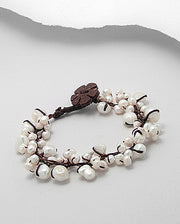 Handmade Elegant Genuine Fresh Water Pearls Bracelet