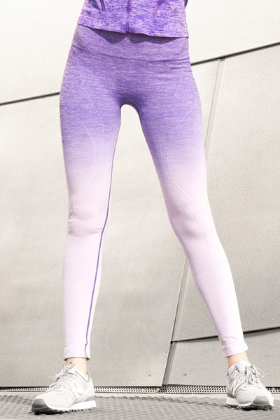 Lydia Dip Dye Ombre Athletic Leggings with High Waistband